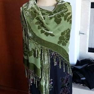 Beautiful two toned burn out shawl